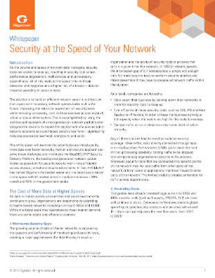 Security at the Speed of Your Network Thumbnail