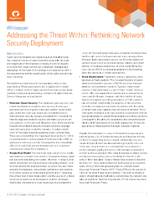 Rethinking Network Security Deployment