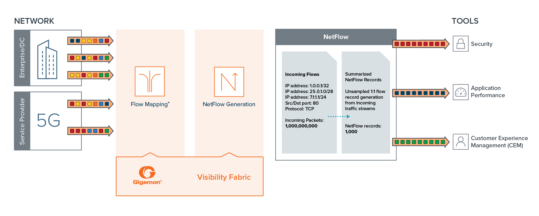NetFlow and Metadata Generation