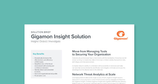 Gigamon Insight solution brief